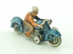 Georg Fischer GF 213 Blech Motorrad seltenes blau pennytoy tin ZZ
