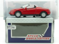 Welly Speed World Edition 310 004 1 Alfa Romeo Spider rot 1:36-38 OVP