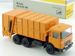 Gescha MAN 26.240 DF Müllfahrzeug Faun Universal Werbemodell 1:50 OVP
