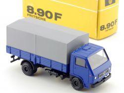 Conrad MAN 8.90 F Pritschen-LKW blau/grau Werbemodell 1:50 OVP SG