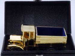 Ziss MAN Werbemodell Erster Diesel-Lastwagen gold selten! 1:50 OVP