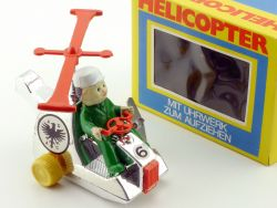 Dickie 3642 Helicopter Uhrwerk ADAC Hong Kong 1971 NOS MIB OVP SG