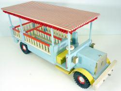 Holzfahrzeug Zirkus-Paradewagen Omnibus groß 1960/70er Jahre selten DDR?