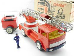 Gama 2501 2503 Mercedes Feuerwehr Anhänger Blech Kunststoff OVP ZZ