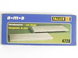 Faller 4728 AMS 2x Fahrbahnwechsel 20 cm Slotcar Spurwechsel OVP