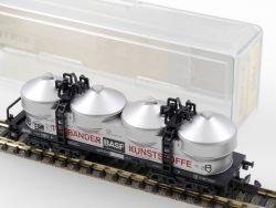 Minitrix 51 3586 00 Silo-Wagen BASF Tonbänder Kunststoffe DB OVP