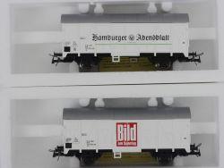 Roco 2x gedeckte Güterwagen DB Bild Hamburger Abendblatt KKK OVP