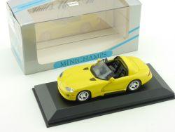 Minichamps 430144030 Dodge Viper Cabriolet 1993 1:43 wie NEU OVP