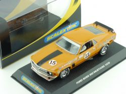 Scalextric C2436 Ford Mustang `70 No15 Slot Car 1:32 OVP