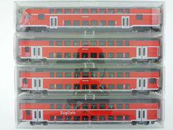 Fleischmann 4x Doppelstockwagen 5623 5624 5625 5626K ZugCafe OVP ME