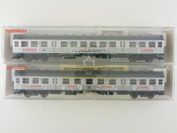 Fleischmann 2x Personenwagen Silberling 5898 5899 K 2.Kl KKK OVP ME