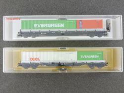 Fleischmann 2x Containertragwagen 5249 5250 K KKK DB NEU OVP ME