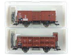 Fleischmann 2x ged. Güterwagen Preußen 5830 5833 KPEV NEU OVP ME