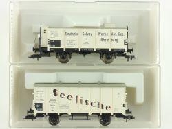 Fleischmann 2x Güterwagen 5341 5449 K KKK Seefische DRG NEU OVP ME