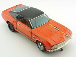 Taiyo Japan Ford Mustang Coupe Blechauto Tin Toy Battery