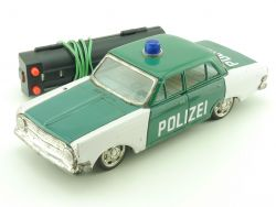 SSS Japan Opel Rekord A Polizei Blechauto Tin Toy Battery