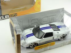 Jada Toys 90075 2005 Ford GT Weiß Dub City customs 1:24 OVP