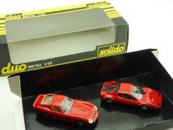 Solido Duo Ferrari 250 GTO Ferrari 512 BB Rot 1:43 OVP