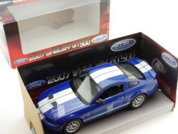 Welly 224763W Ford Shelby GT 500 2007 Blau 1:24 OVP