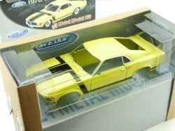 Welly 22088MK 1970 Ford Mustang Gelb Metal Model Kit MIB OVP