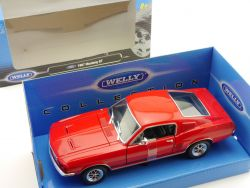 Welly 22522 1967 Ford Mustang GT Rot  1:24 Modellauto MIB  OVP
