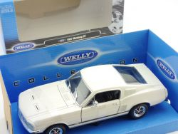 Welly 22522 1967 Ford Mustang GT Weiß 1:24 Modellauto MIB OVP