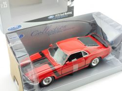 Welly 22088 1970 Ford Mustang Boss 302 Rot 1:24 Modellauto OVP