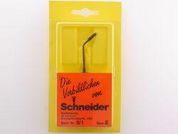 Schneider Straßenlampe 40 mm 3/1 Leuchte Laterne Spur Z OVP ST