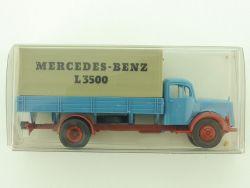 Brekina Mercedes MB L 3500 LKW Pritsche Plane 1:87 NEU OVP