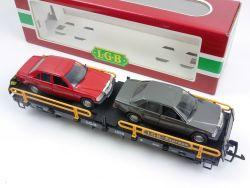 LGB 4059 Autotransporter mit 2x Polistil MB 190 E W 201 GUT! OVP