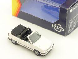 Gama 1135 Opel Kadett GSi Cabrio Weiss 1:43 Modellauto frühe OVP