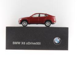 Herpa BMW X6 xDrive50i E 71 2008 Modellauto rot 1:87 Dealer OVP