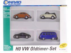 Conrad 245030 VW Volkswagen Bus Käfer 4x Oldtimer Set 1:87 OVP SG