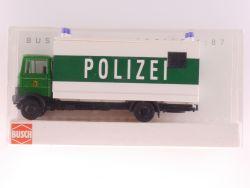 Busch 40765 MB LP 809 Polizei Pferdetransporter selten! OVP