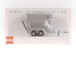 Busch 44904 Pferdetransport Anhänger Bockmann 1:87 OVP