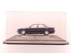 Herpa BMW 7er Limousine blau Modellauto 1:87 tlw. OVP