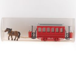 IMU 30006 Pferdestraßenbahn rot 1:87 Modellbahn H0 OVP