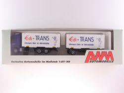 AWM 50907 MB 2540 Edi-Trans Koffer-Hängerzug LKW 1:87 OVP