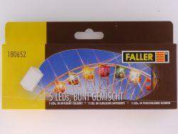 Faller 180652 Zubehör Kirmes Modelle 5x LED bunt gemischt OVP