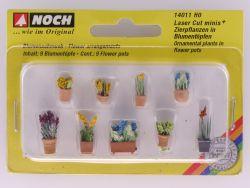 Noch 14011 Zierpflanzen in Blumentöpfen Modellbahn Laser Cut OVP