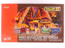Faller 140358 Kirmes-Absperrzäune Schilder Jahrmarkt 1:87 OVP
