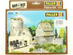 Faller 699 Patina Set Model Master Farben Pinsel Spur H0 OVP