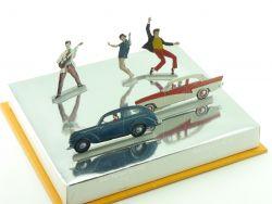 Ford Werbepräsent Diorama 50s Ford Taunus De Luxe 17 M P2 selten! OVP