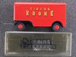 Brekina 55201 2-achsiger Anhänger Zirkus Circus Krone 1:87 OVP ST