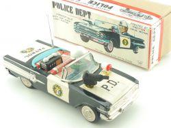 Ichiko Japan Chevrolet Police Dept. Car P.D. Blechauto MIB OVP