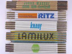 Sammlung 5x Zollstock Meterstab Reca Ritz Knauf TOP