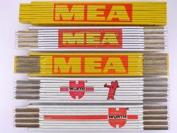 Sammlung 5x Zollstock Meterstab MEA Würth Mealuxit TOP