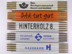 Sammlung 5x Zollstock Meterstab DAK Sigma Coatings TOP!