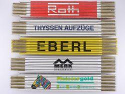 Sammlung 5x Zollstock Meterstab Merk Eberl Roth TOP!