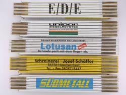 Sammlung 5x Zollstock Meterstab Südmetall EDE Lotusan TOP!